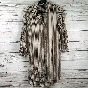 Striped Halston shirt dress